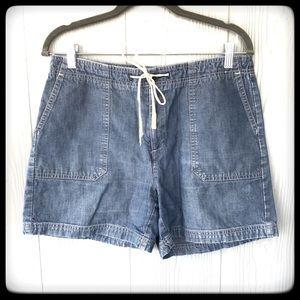 Dockers Shorts lightweight denim w/tie  sz 10
